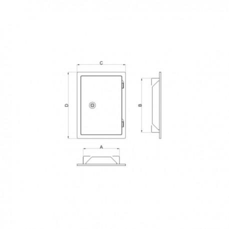 Drzwiczki 14x14 - białe