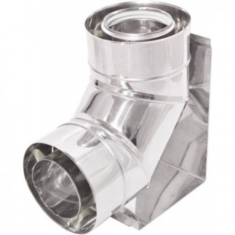 Kolano 90° Turbo z podstawą kwasoodporne z uszczelką